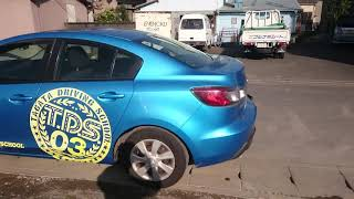 Видео-тест автомобиля Mazda Axela (голубой, Bl6fj-100497, Z6, 2009г.)