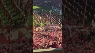 IRON BOWL 2016 Alabama Crmison Tide running out of tunnel!!