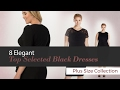 8 Elegant  Top Selected Black Dresses  Plus Size Collection