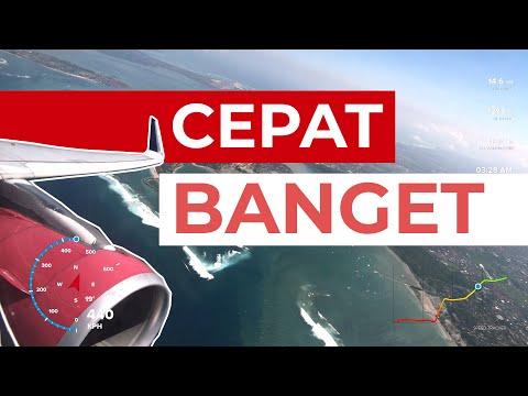 Kecepatan Airbus A320 Batik Air Saat Take Off di Bali