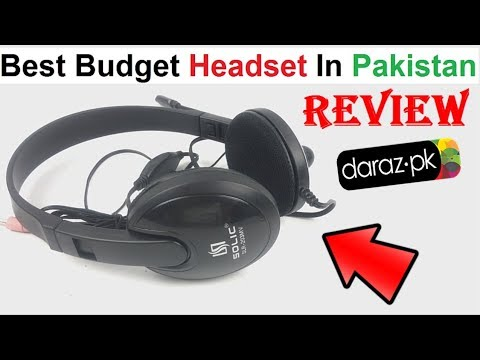 Solic Slr 203 Stereo Headphone Unboxing Review From Daraz Youtube