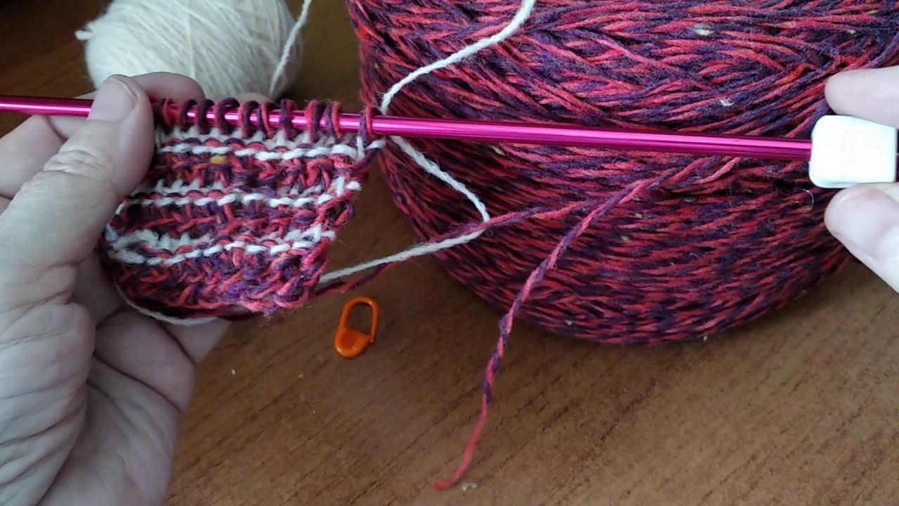 Тунисское вязание. Как связать объемный узор длинным крючком