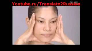 Японский массаж лица видео 4 часть самомассаж лица лимфодренажный массаж подтяжка кожи youtube