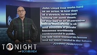 TWBA: John Lloyd Cruz says sorry for his cyber scandal