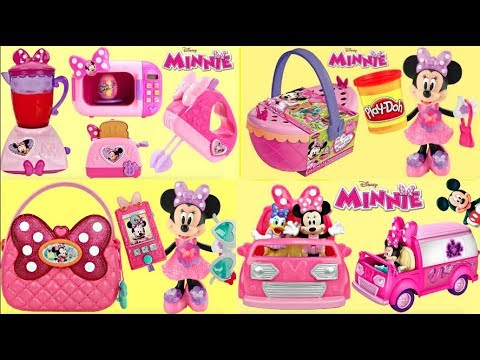 MINNIE MOUSE TOYS with Bowtastic Blender, Happy Helper Van & Picnic Basket Playset