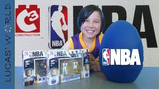 Giant NBA Play Doh Surprise Egg: C3 Construction NBA Toys Series 3 Blind Bags Figures Review