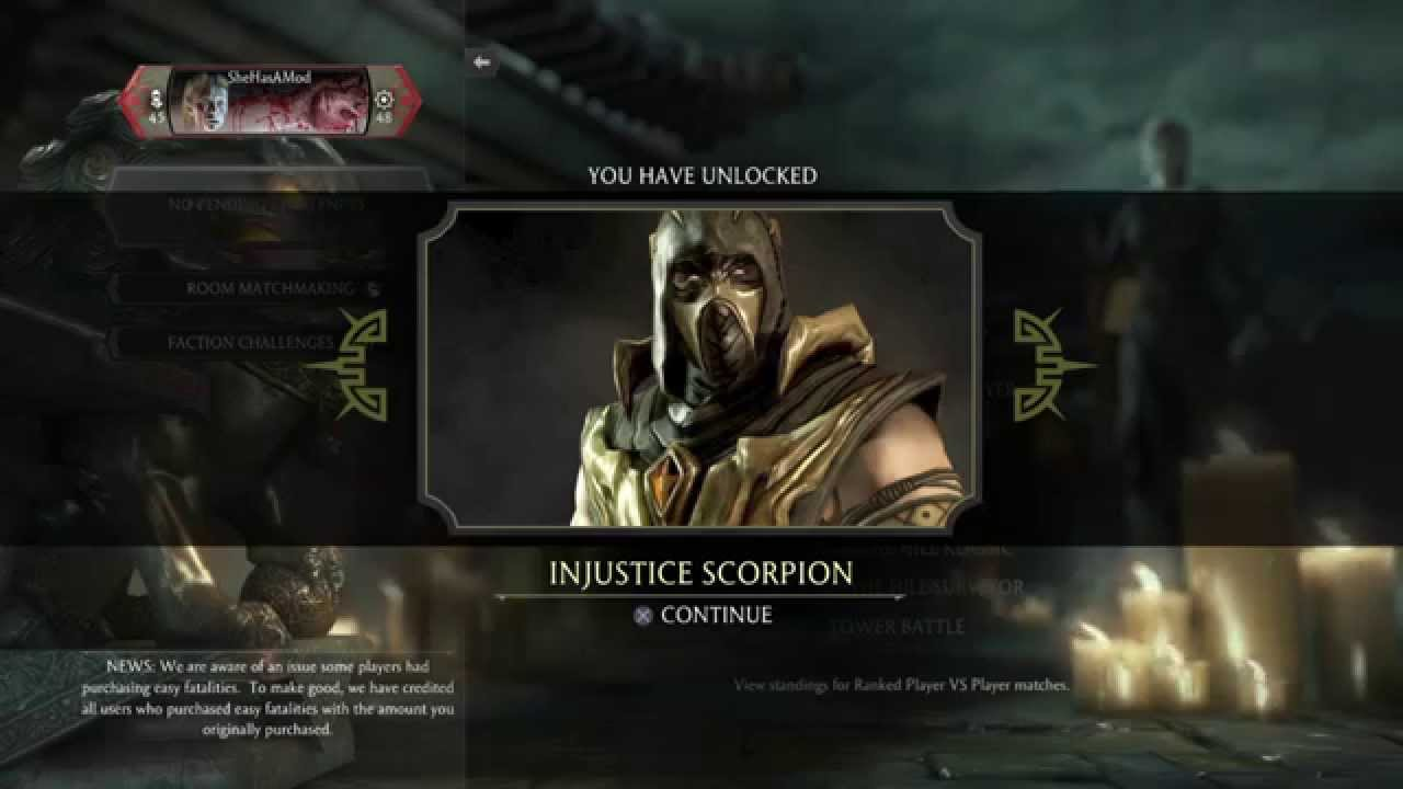 Mortal Kombat X Injustice Scorpion For FREE Without MKX Mobile App (PATCHED)
