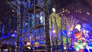 Accensione dell'albero a New York. Christmas Tree Lighting Ceremony at Rockfeller Center