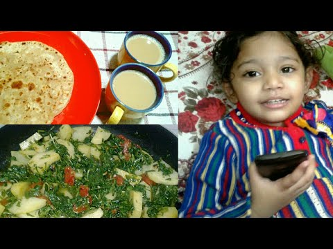 Breakfast Morning Routine In Hindi || Daily Routine Morning  2017 in Hindi|| Lunch Recipes