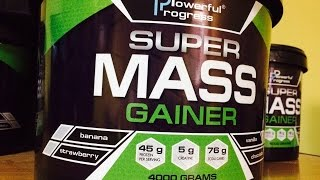 SUPER MASS GAINER от POWERFUL PROGRESS - обзор гейнера!