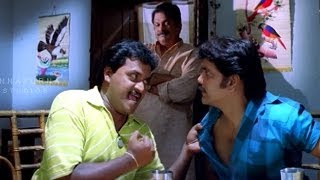 Sunil, Nagarjuna and Dharmavaram Comedy Scene || Mass Movie