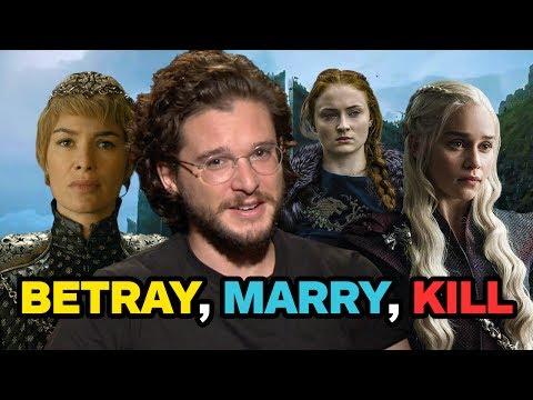 """Game of Thrones: Kit Harington Plays """"Betray, Marry, Kill"""""""