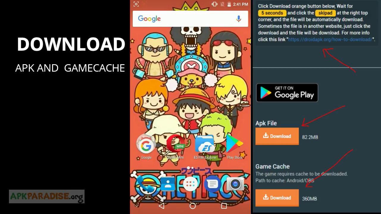How to install game with gamecache (obb or data)