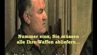 Srebrenica: Ratko Mladic am 11. Juli 1995