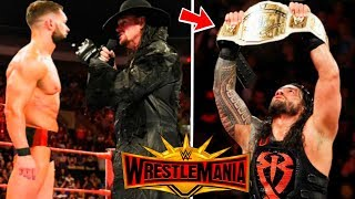 Roman Reigns Winning the Intercontinental Championship ? Balor Vs Taker ? WWE WrestleMania 35 !