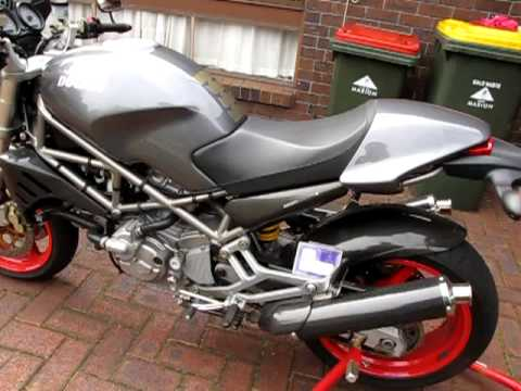 ducati s4 monster with spark mufflers youtube. Black Bedroom Furniture Sets. Home Design Ideas