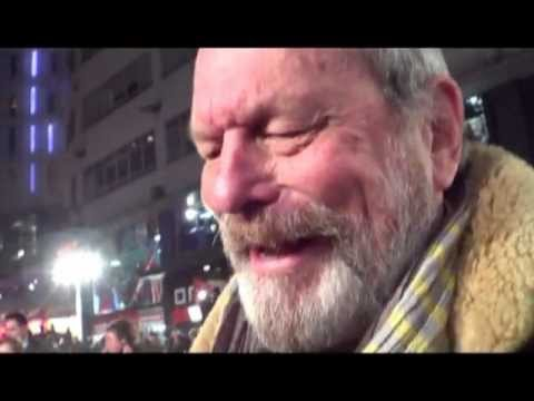 TERRY GILLIAM chatting about Don Quixote & Johnny Depp @ Django Unchained UK premiere