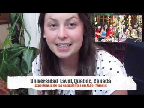 Estudiantes de la Universidad Laval, Quebec, Canadá en Jabel Tinamit, Panajachel, Guatemala.