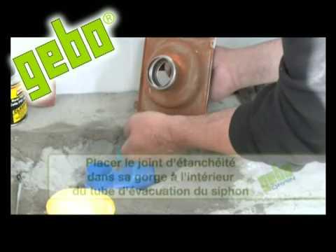 gebo drain siphons et caniveaux de sol pour douche l 39 italienne montage youtube