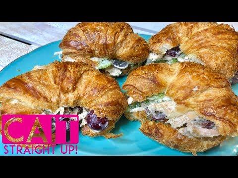 Easy Chicken Salad Croissants Recipe | Cait Straight Up