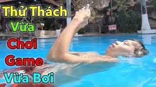 LamTV - Trận Chiến Vừa Bơi Vừa Chơi Game | swimming during playing games