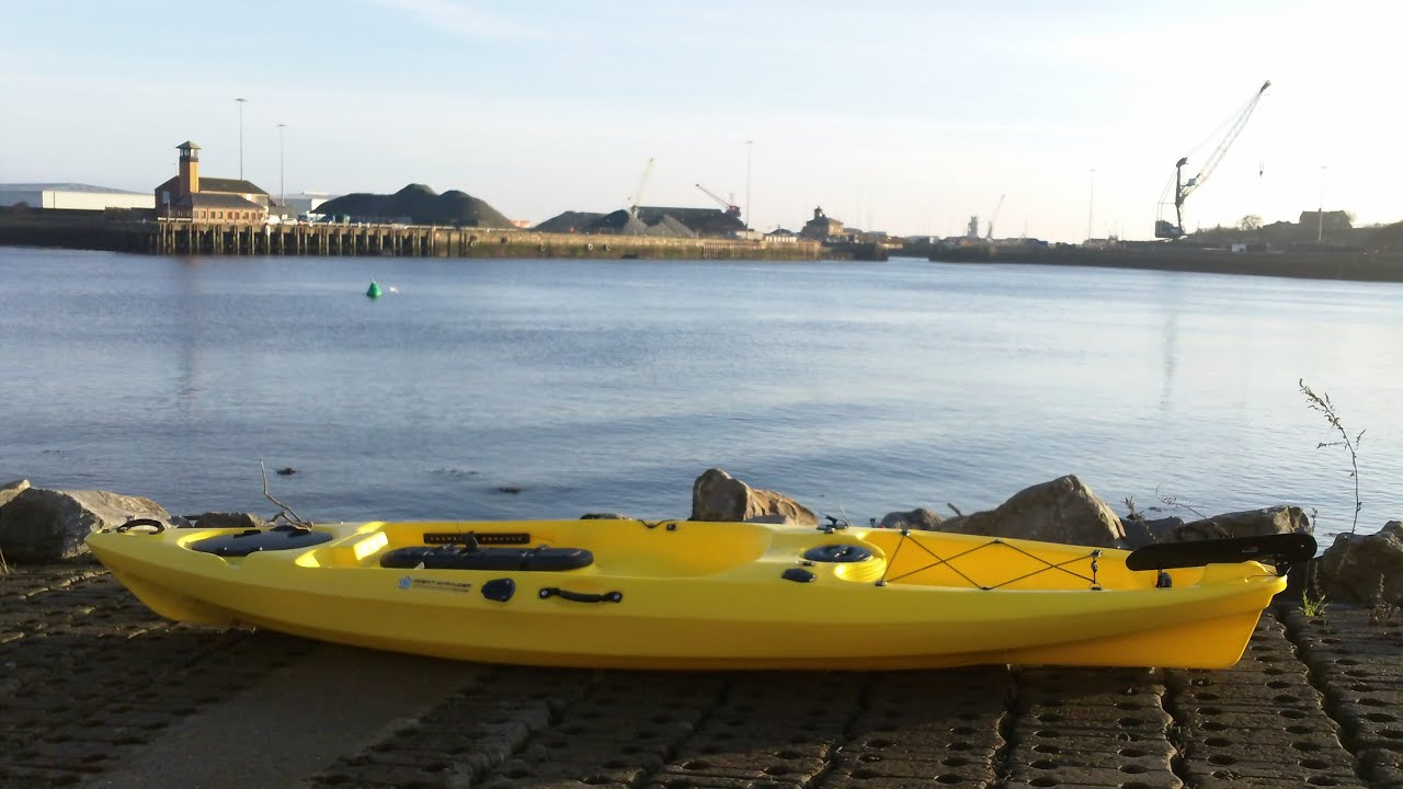 Ocean marauder first paddle youtube for Ocean kayak fishing