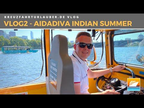 #VLOG2: Indian Summer Mit AIDAdiva - Seetag Und Boston