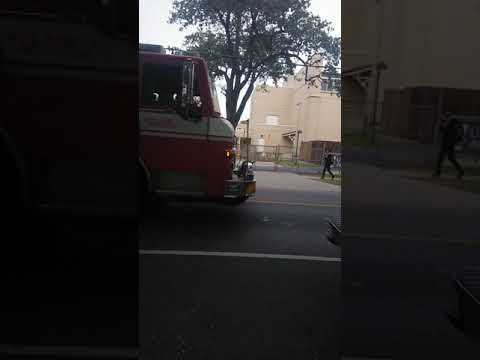Engine 15 pass Eleanor McMain Secondary School