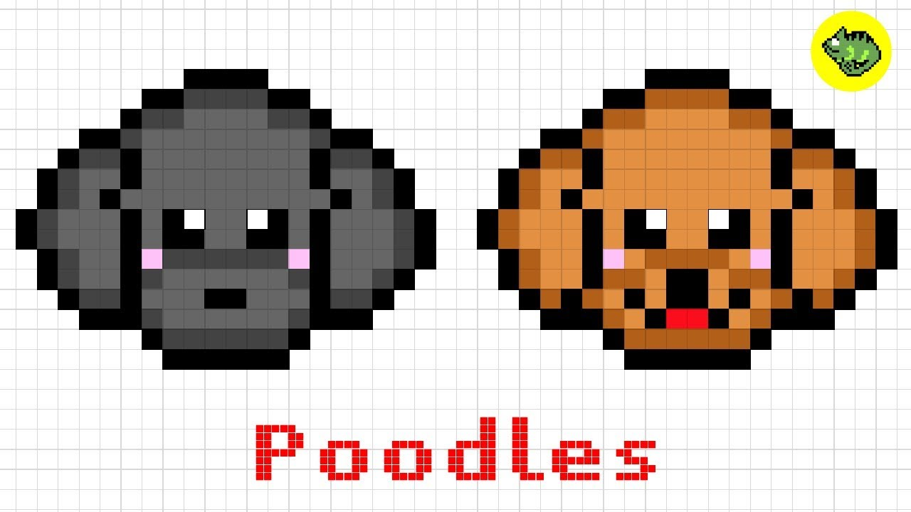 Pixel Art Miniature Poodles Dog Series14how To Draw