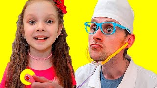 Doctor Checkup Song | Lisa Pretend Play Nursery Rhymes & Kids Songs