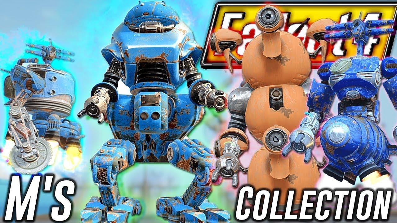 Fallout 4 - M'S AUTOMATRON PARTS COLLECTION - DLC Automatron Best Robot  Builds