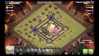 Clash of Clans How to 3 star this Famous Th9 Square War base 4 Corner Base