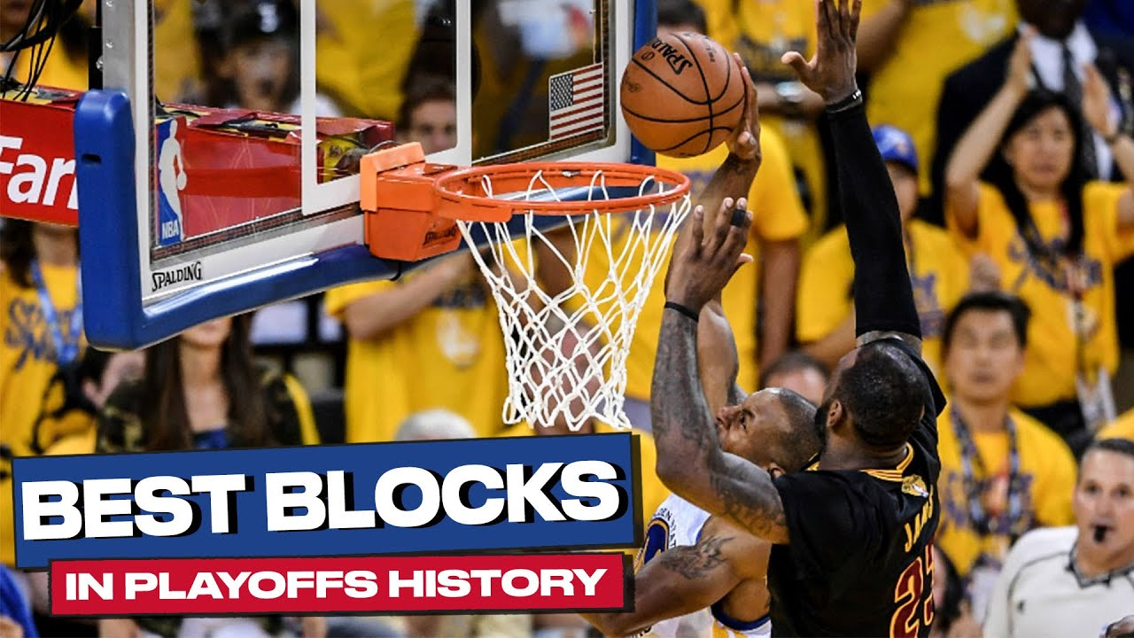 The 17 Best CLUTCH Playoff BLOCKS in NBA HISTORY! 💥🤯