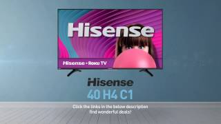 Hisense 40H4C1 H4 series full HD Roku TV // Full Specs Review