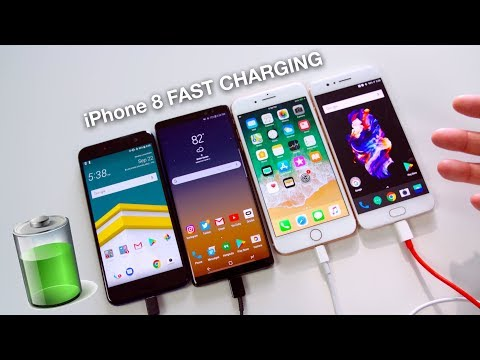 iPhone 8 Plus Fast Charging vs Note 8 // OnePlus 5 // HTC U11!