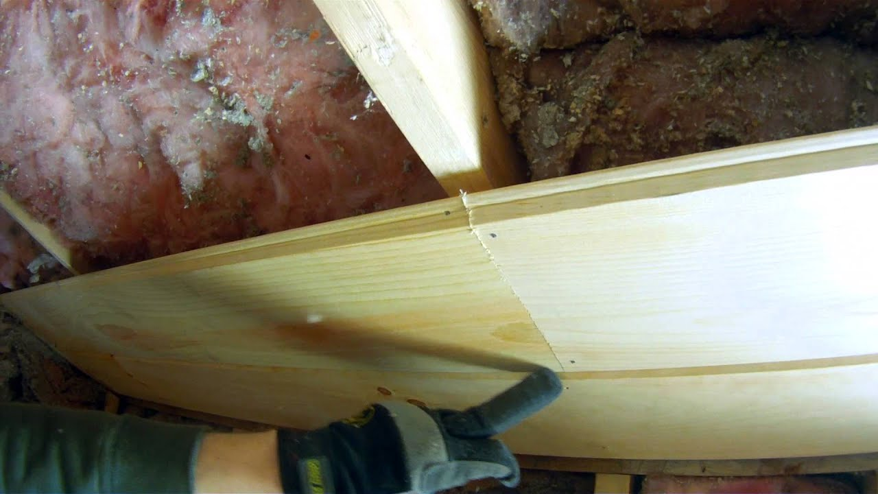 how to install tongue and groove pine on the ceiling - youtube