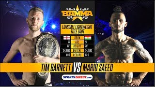 BAMMA 29: Tim Barnett vs Mario Saeed