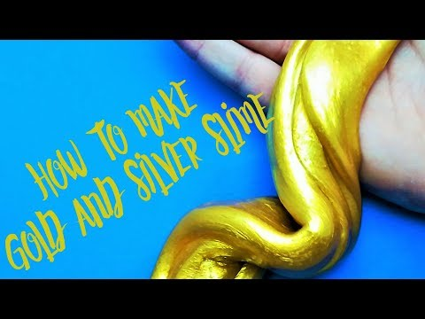How to make metallic GOLD/SILVER slime
