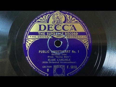 "Elsie Carlisle - ""Public Sweetheart No. 1"" (1935)"