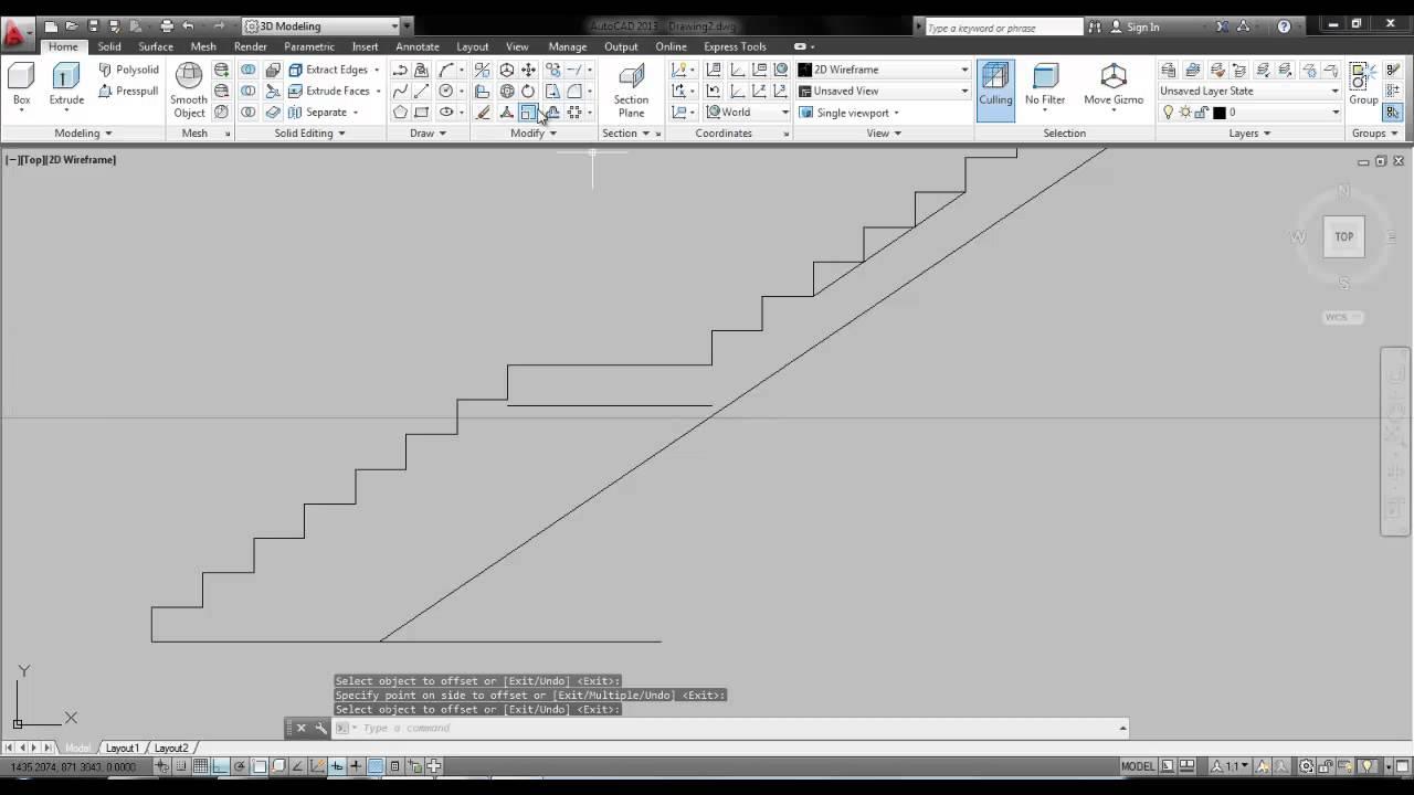 05 escalera con descanso youtube for Escaleras metalicas con descanso