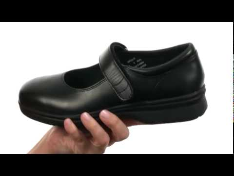 Propet Mary Jane Walker Medicare/HCPCS Code = A5500 Diabetic Shoe Black  Leather - Trendzmania.com