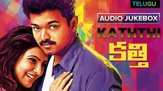 "Play free music back to only on eros now - https://goo.gl/bex4zd listen ""kaththi"" telugu full songs. watch more log http://www.erosnow.com/ ..."