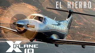 X-Plane 10 - Carenado PC-12 - Landing at El Hierro - TrackIR