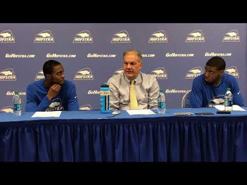 MBB: Hofstra Postgame Press Conference vs. Army West Point (11/10/17)