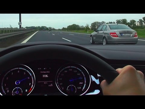 VW GOLF 7 R Onboard Acceleration German NO SPEED Limit Highway Autobahn Sound Volkswagen