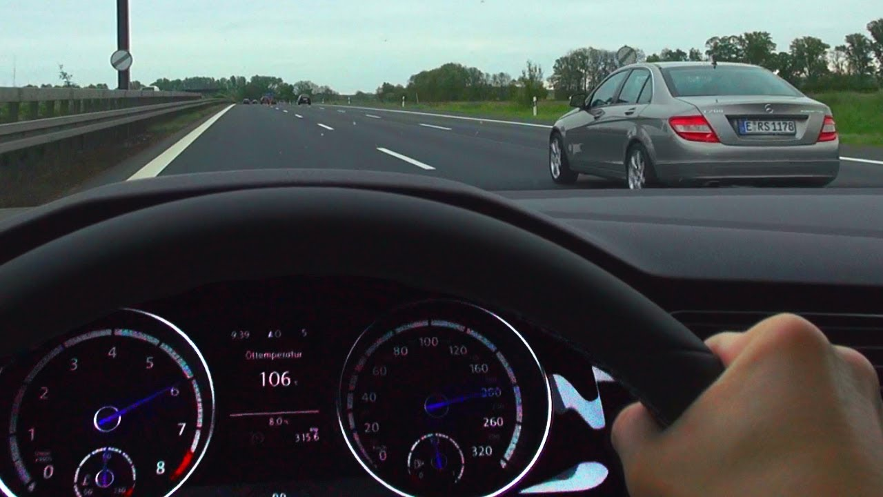 VW GOLF 7 R Onboard Acceleration German NO SPEED Limit Highway
