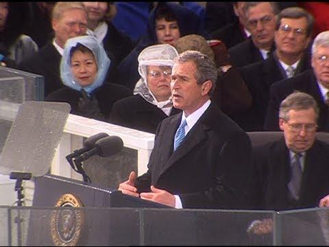HD Historic Archival Stock Footage President George W. Bush Inaugural Address 2001