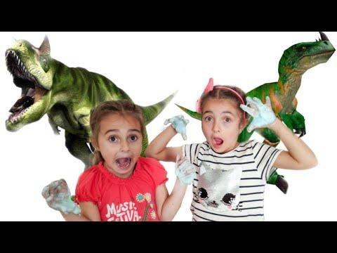 СЛИЗЬ ЧЕЛЛЕНДЖ от Savvina Star. Саввина и Ольга ищут динозавров !