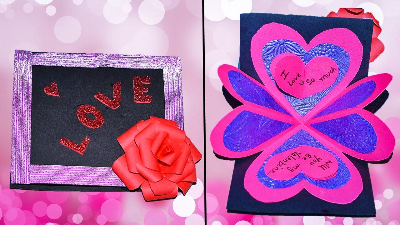 Beautiful Handmade Valentine Card Beautiful Love Card – Beautiful Handmade Valentine Cards