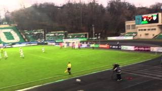 CSKAモスクワ対テレク ドゥンビアのPKでのゴール